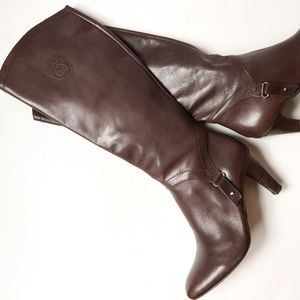 Etienne Aigner Brown Becca Leather Heeled Boots